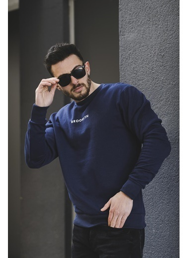 Oksit Oksit Lgg Brooklyn Pamuklu Erkek Sweatshirt Lacivert